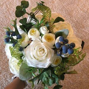 Silk flower brides bouquet